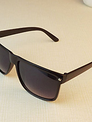 Sunglasses Men / Women / Unisex's Classic / Sports / Fashion Rectangle Black / White / Brown Sunglasses Full-Rim