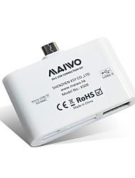 maiwo ks09 leitor de cartão multi-funcional usb 2.0 tf / sd / mmc para dispositivos OTG habilitado
