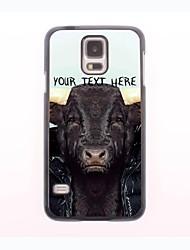 personalisierte Telefon-Tasche - Kuh Design-Metall-Gehäuse für Samsung Galaxy mini s5
