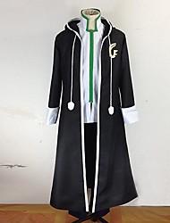 Inspirado por Fairy Tail Gerard Fernandes Anime Fantasias de Cosplay Ternos de Cosplay Patchwork Preto Manga CompridaCasaco / Calças /