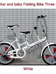 """20 """"pieghevole mini bicicletta 3 mm Giri ™ madre e del bambino doppio città sede della bici di alta catbon telaio in acciaio aggiungendo sedile"""