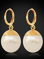 InStyle 18K Chunky Gold Plated Peals Drop Earrings for Women High Quality