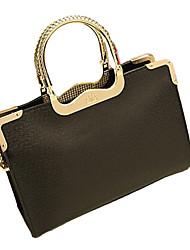 Weixiaohudie Elegant Retro Tote Crossbody Bag (Black)
