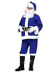 Blue Santa Claus Suit Adult Men's Christmas Costume