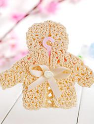 favores de la boda de diseño de decoración de ropa de bebé (juego de 6)
