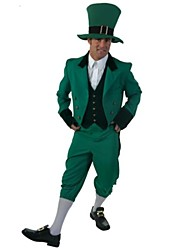 Cosplay Costumes / Party Costume Santa Suits Festival/Holiday Halloween Costumes Green Solid Coat / Vest / Blouse / Pants / HatHalloween