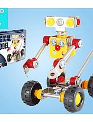 Magical Model DIY Intellectual Development Stainless Alloy Assembled Robot Waiter Toy(27 PCS)