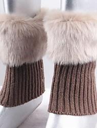 женская мода мех теплый полоса гетры чулочно-носочные изделия
