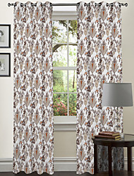 One Panel Curtain Designer , Leaf Living Room Polyester Material Curtains Drapes Home Decoration For Window