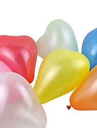 ballons en forme de coeur nacrées épais de grande taille (couleur aléatoire, 100pcs)