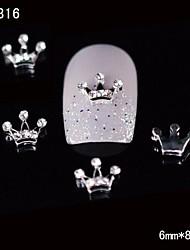 10pcs Beauty Crown 3D Rhinestone Alloy Nail Design DIY Nail Art Decoration