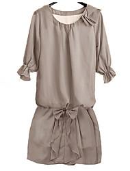 Women's Dress,Solid Above Knee ½ Length Sleeve All Seasons