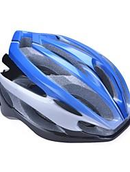 moda unisex y de alta transpirabilidad pc + epp casco de bicicleta (24vents) - azul + plata