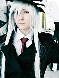 monocromo Factor shirogane 150cm blanco puro cosplay peluca
