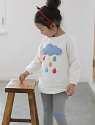 belle couleur de pluie fille tombe impression princesse t-shirt