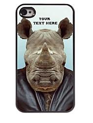 personalizzati cassa del telefono - rinoceronte caso di disegno del metallo per il iphone 4 / 4s