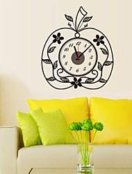 Wall Clock adesivos adesivos de parede, criativo pvc maçã adesivos de parede