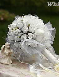 Elegant Round Shape  Rose  Bud Bridal Wedding Bouquet(More Colors)
