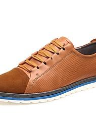 Scarpe da uomo Casual Pelliccia/Pelo di vitello Sneakers alla moda Marrone/Blu scuro