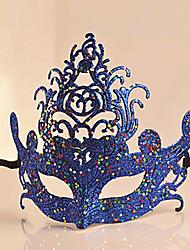 Маскарад королевы ПВХ порошка золота Хэллоуина маски