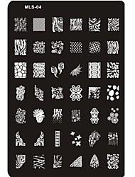 прекрасный ногтей штамповки изображение пластины ногтей шаблон гвоздь трафарет № 4