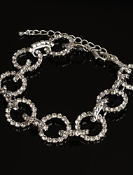 Fashion  Round Silver-plated Luxury Rhinstone Bracelet