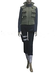 Inspired by Naruto Hinata Hyuga Anime Cosplay Costumes Cosplay Suits Patchwork Green Long Sleeve Vest / Top / Pants / Pocket / Bandage