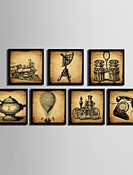 Still Life Framed Canvas / Framed Set Wall Art,PVC Black No Mat With Frame Wall Art