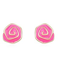 Women's Swirl Pattern Alloy Stud Earrings (More Colors)