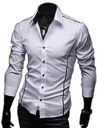 Glory Shirt Collar Long Sleeve Casual Fitted Shirt