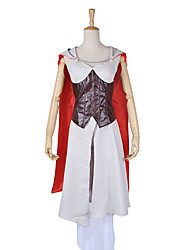 Inspired by Assassin's Creed Cosplay Video Game Cosplay Costumes Cosplay Suits Patchwork White Long Sleeve Cloak / Dress / Bracelet