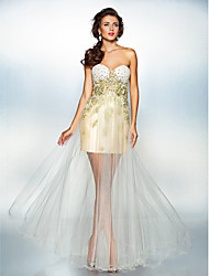 Dress A-line Sweetheart Floor-length Tulle