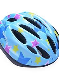 moda cómoda seguridad + eps 10 respiraderos niños 'integralmente moldeadas por el ciclismo casco - cielo púrpura + azul + azul