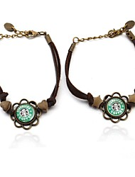 temps joyau Starbucks café couple bracelet