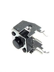 pie del lado 6x6x 5mm táctil interruptor interruptor de botón interruptor micro con el soporte (50 PC)