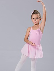 Kids' Dancewear Tutus / Dresses Women's / Children's Cotton Bow(s) Light Blue / Pink / White / Yellow Ballet Sleeveless