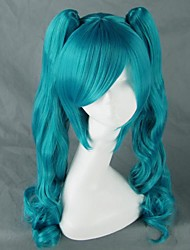Vocaloid MIKU Blue Long Curly Cosplay Wig
