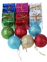 Christmas Decorations Gift Ball Hang Bag (12 PCS) - Random
