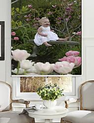 bébé en robe blanche rouleau sahde