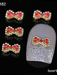 10pcs Mix Rhinestone Group Glitter Bowtie DIY Alloy Accessories Nail Art Decoration