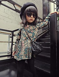 Floral Blouse,Cotton Spring Fall Long Sleeve Long