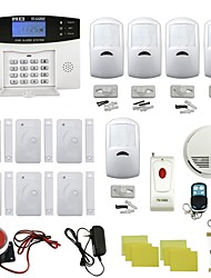 Quad-Band Home Burglar Security Alarm System w / Remote Control