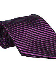 Black&Purple Striped Tie