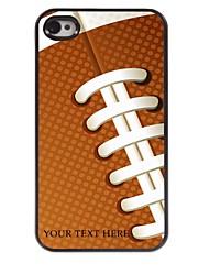 personalizzato del telefono caso - caso del metallo di disegno di rugby per il iphone 4 / 4s