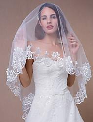 voiles de mariage tondo un niveau bord appliques