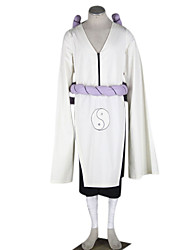 Inspired by Naruto Kimimaro Anime Cosplay Costumes Cosplay Suits Solid White Long Sleeve Kimono Coat / Pants / Belt / Rope