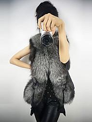 Women's Vests , Faux Fur/Faux Leather Casual coko