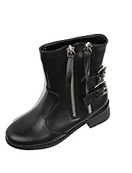 Women's Shoes Round Toe Fashion Boots Low Heel Ankle Boots