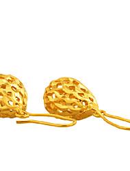 clignote mode tempérament 24k boucles d'oreilles en or des femmes