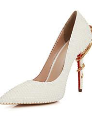 Chaussures femmes pointues pompes en cuir toe talon aiguille de brevet / talons